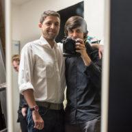 S hercem a majitelem Divadla Mír Albertem Čubou (2016)